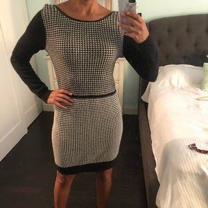 Club Monaco black and white sweater dress